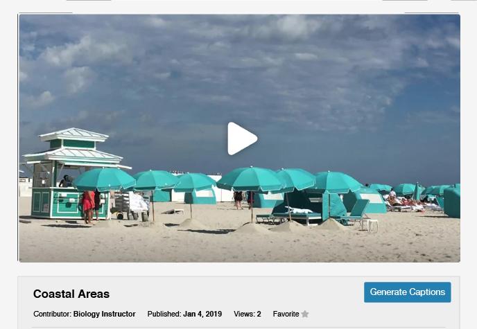 Generating captions from ShareStream's media player