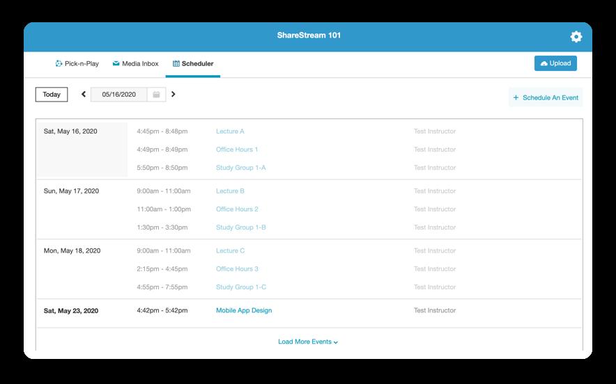 Managing meeting recordings using ShareStream